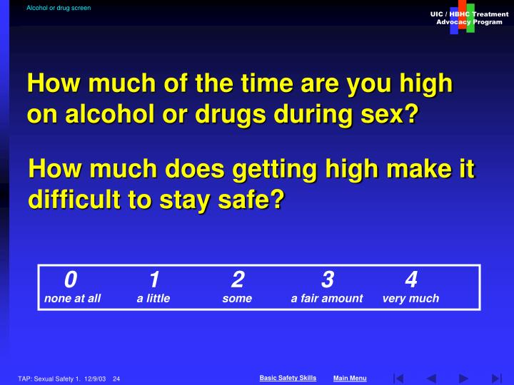 Alcohol or drug screen
