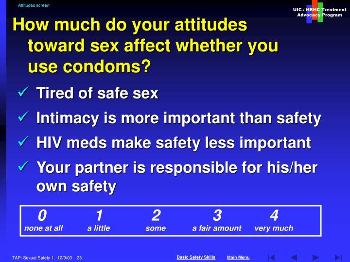 Attitudes screen