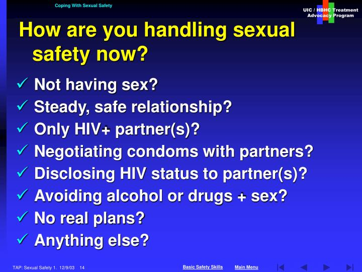 Coping With Sexual Safety