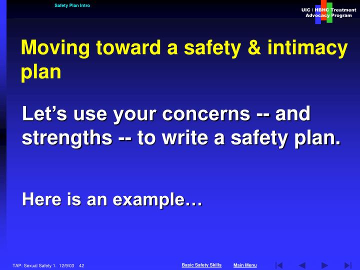 Safety Plan Intro