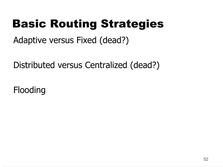 Basic Routing Strategies
