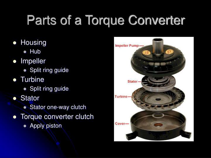 Parts of a Torque Converter