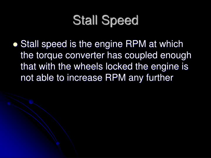 Stall Speed