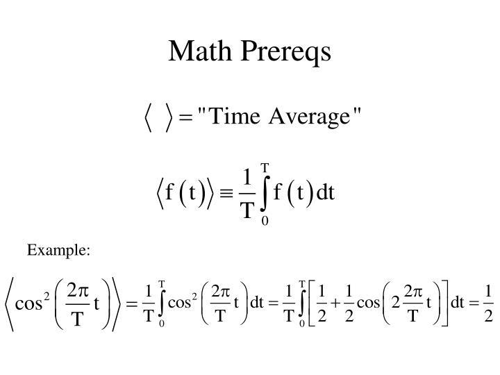 Math Prereqs