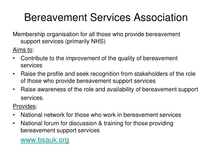Bereavement Services Association