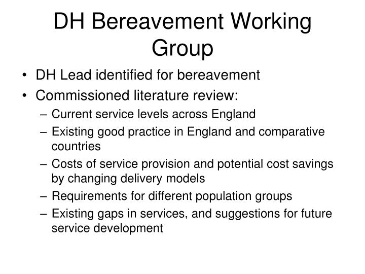 Dh bereavement working group
