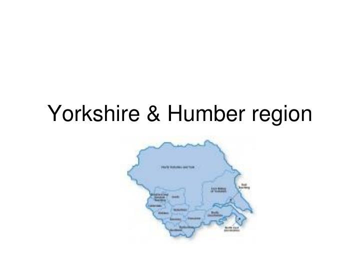 Yorkshire & Humber region