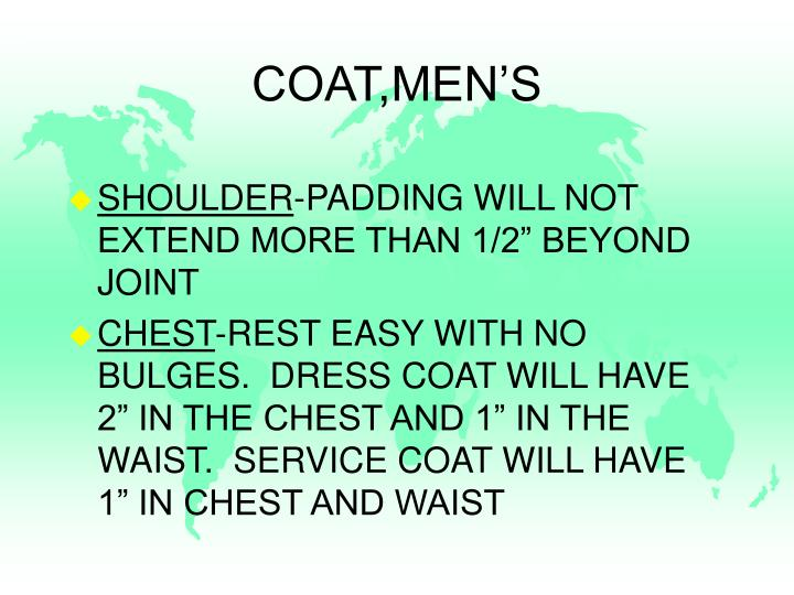 COAT,MEN'S