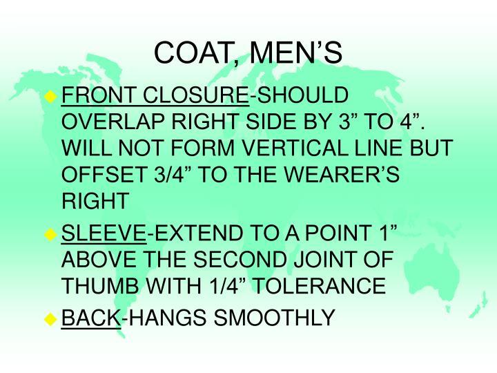 COAT, MEN'S