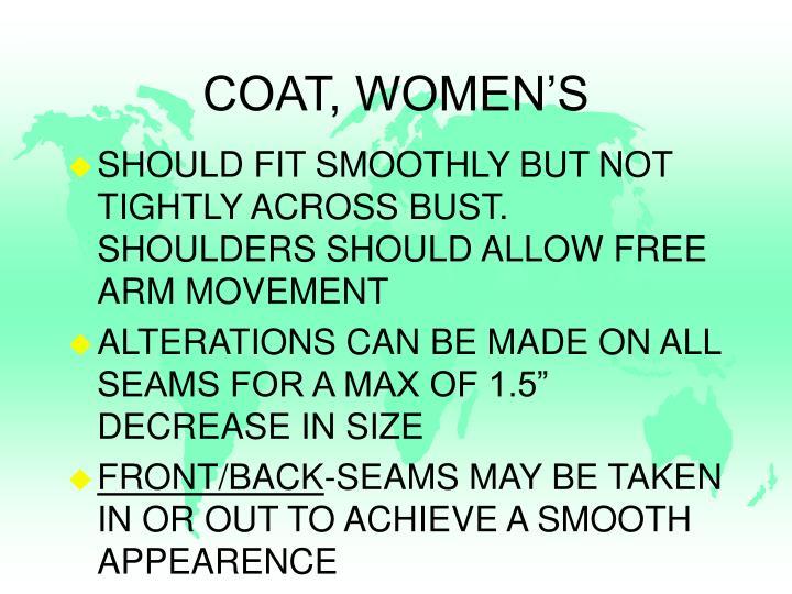 COAT, WOMEN'S