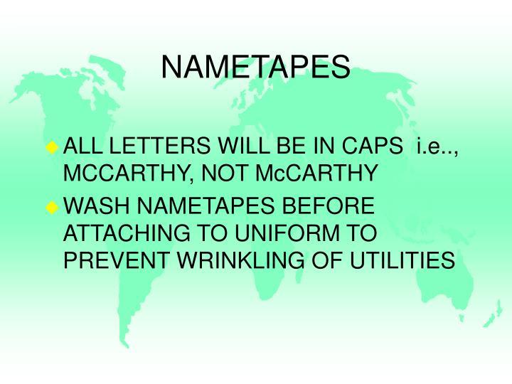 NAMETAPES