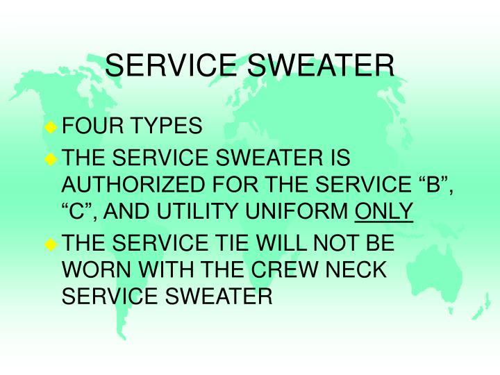 SERVICE SWEATER
