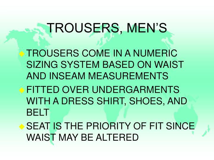 TROUSERS, MEN'S