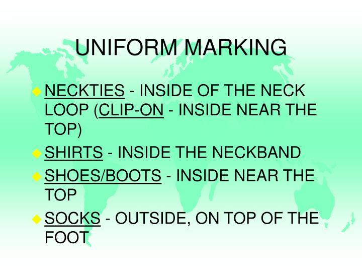 UNIFORM MARKING