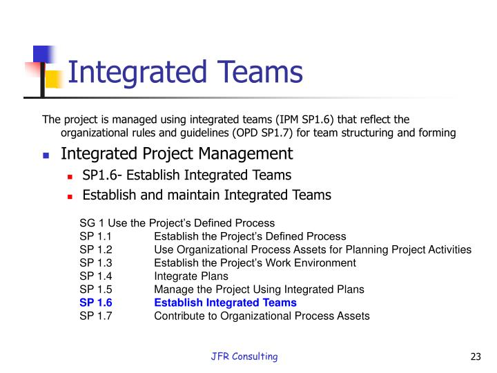 Integrated Teams