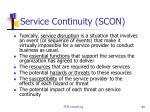 service continuity scon1
