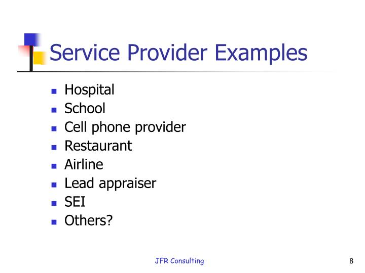 Service Provider Examples