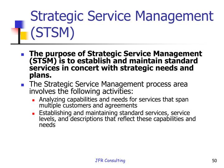 Strategic Service Management (STSM)