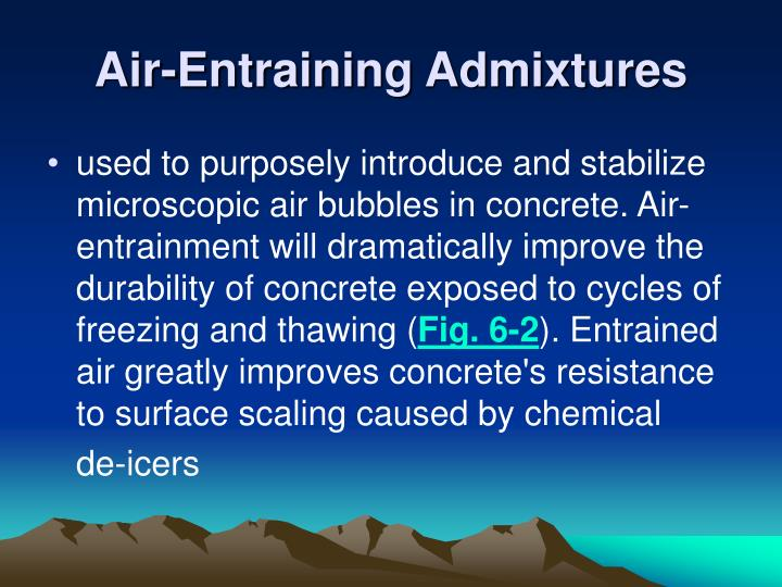 Air-Entraining Admixtures