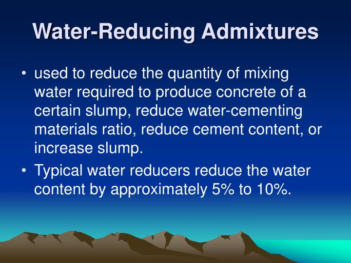 Water-Reducing Admixtures