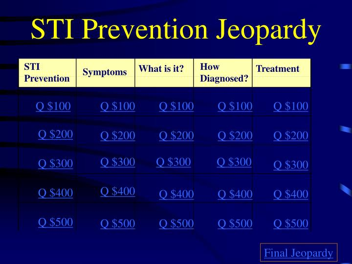 Sti prevention jeopardy