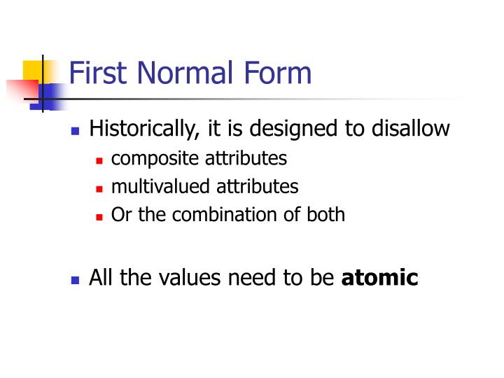 First Normal Form