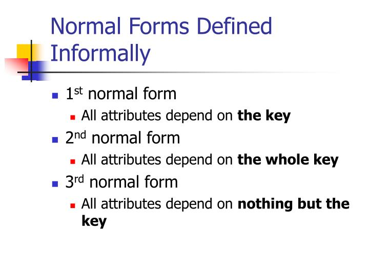 Normal Forms Defined Informally