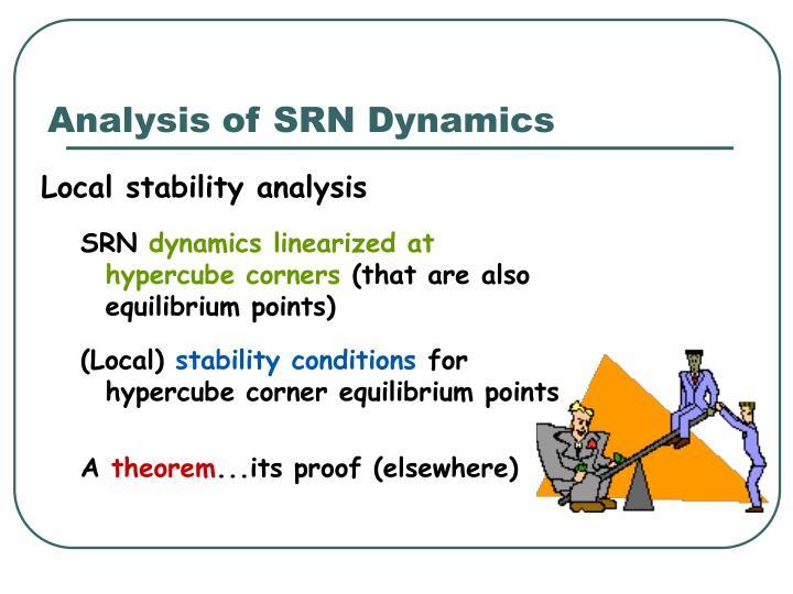 Analysis of SRN Dynamics