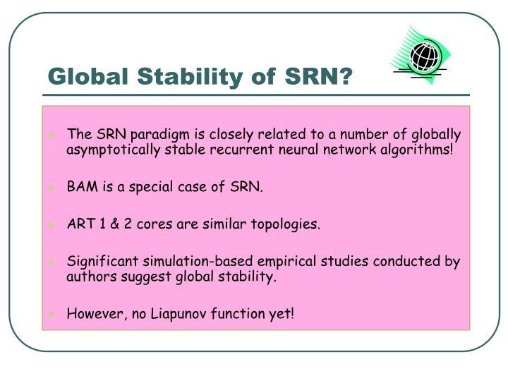 Global Stability of SRN?