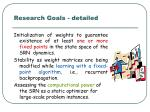 research goals detailed