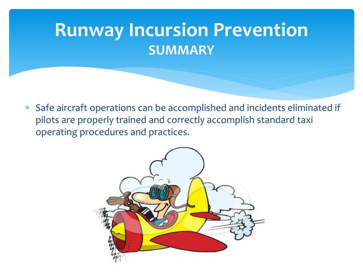 Runway Incursion Prevention
