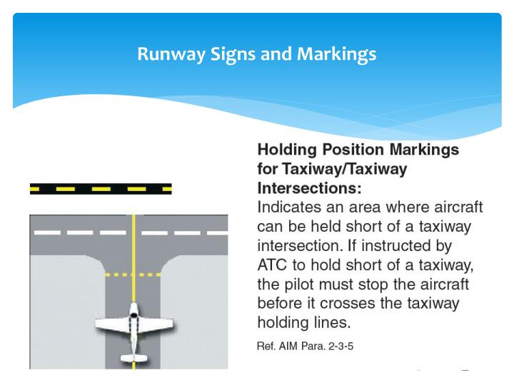 Runway Signs and Markings
