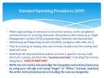 standard operating procedures sop2