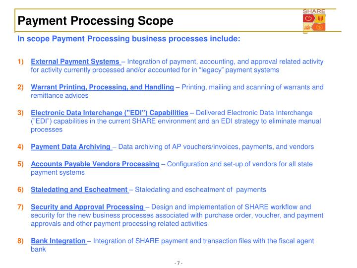 Payment Processing Scope