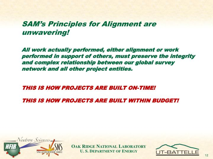 SAM's Principles for Alignment are unwavering!