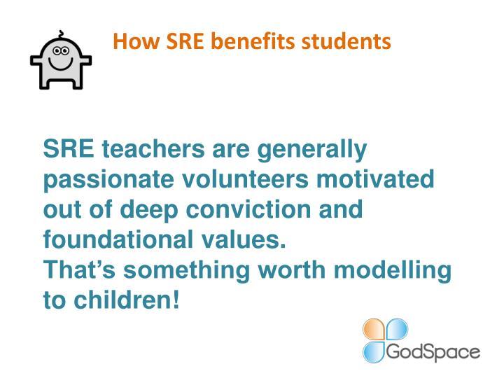 How SRE benefits students