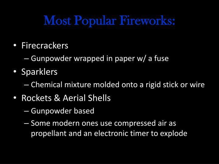 Most Popular Fireworks: