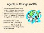 agents of change aoc