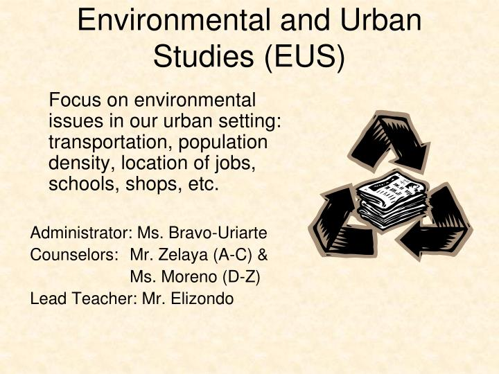 Environmental and Urban Studies (EUS)