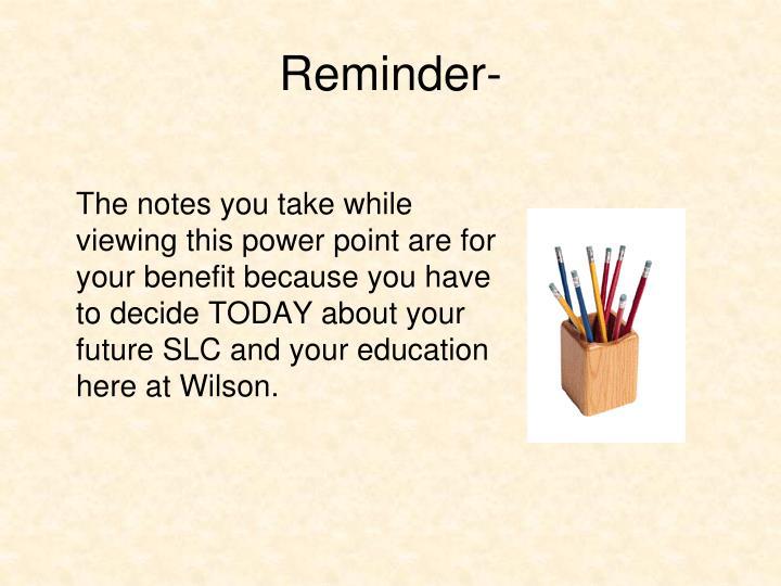 Reminder-