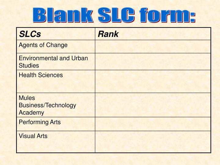 Blank SLC form: