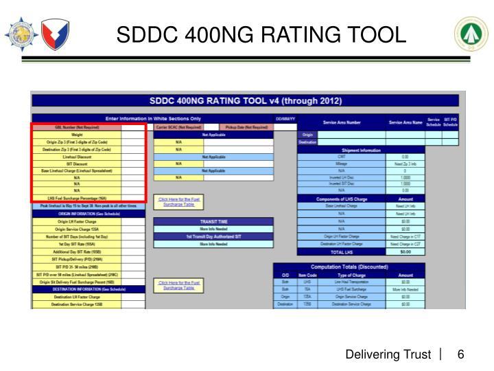 SDDC 400NG RATING TOOL