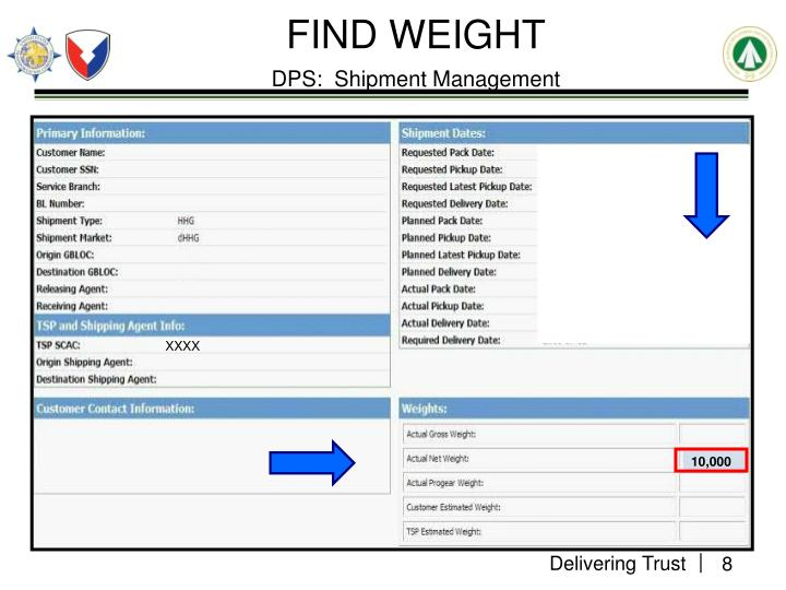 FIND WEIGHT