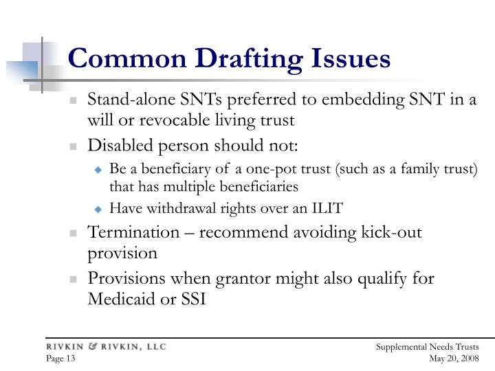 Common Drafting Issues