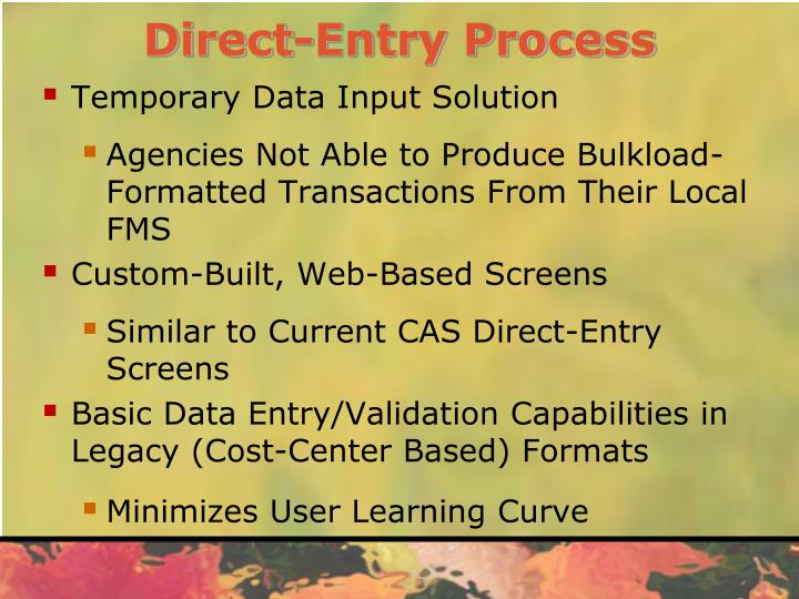 Direct-Entry Process