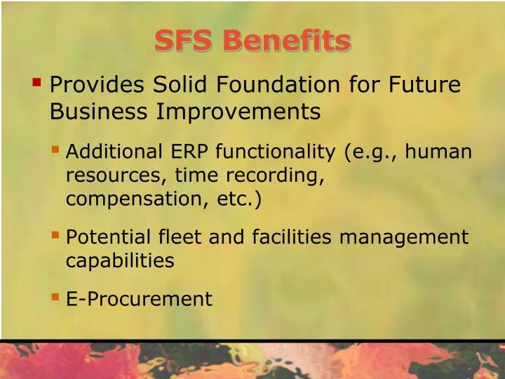 SFS Benefits