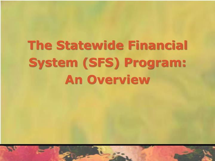 The Statewide Financial