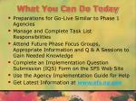 what you can do today