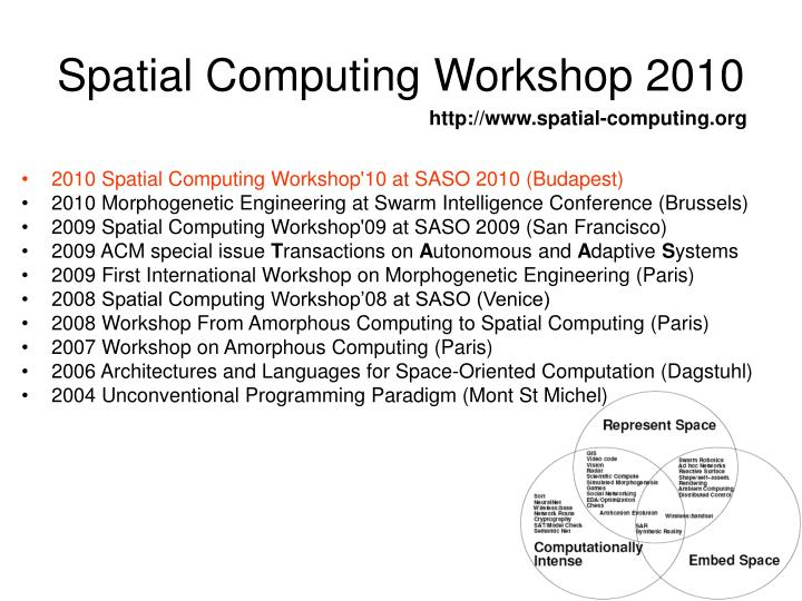 Spatial computing workshop 2010
