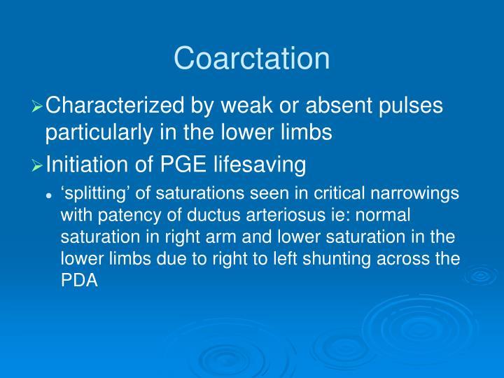 Coarctation